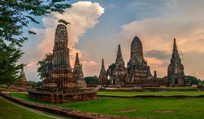 The famous and historic temples of Ayutthaya near Bangkok, Thailand
