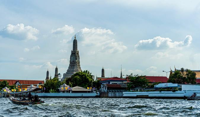 Cruising along the Chao Phraya River in Bangkok, Thailand