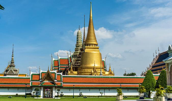 The stunning Grand Palace temple in Bangkok, Thailand