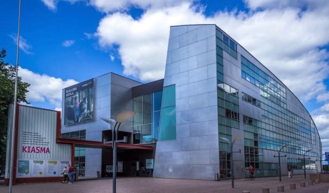 The exterior of the Kiasma Museum in Helsinki, Finland