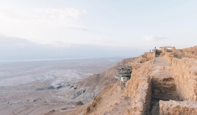 The Masada Fort and National Park in Israel