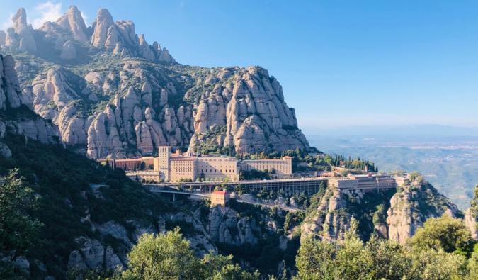 The stunning Monserrat mountains near Barcelona, Spain