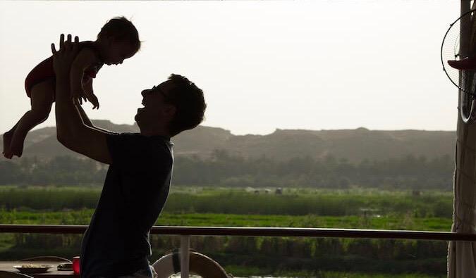 Brook Silva-Braga with his child