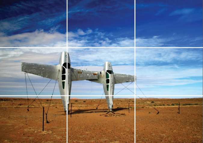 Photo of surreal art sculpture park in the Australian Outback