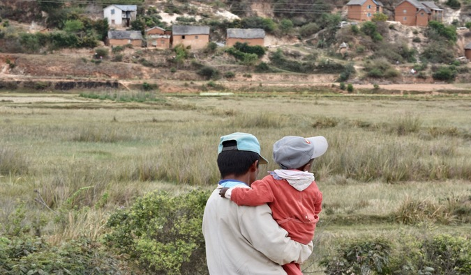 A father and son in Madagascar