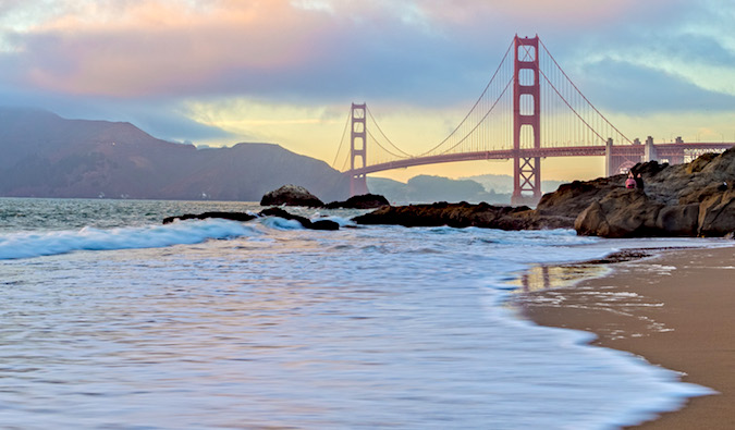 Bakers Beach Sunset in San Francisco by Laurence Norah