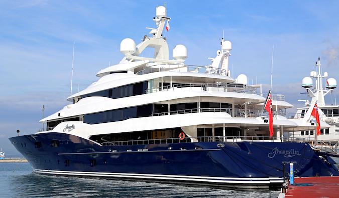 a luxurious yacht