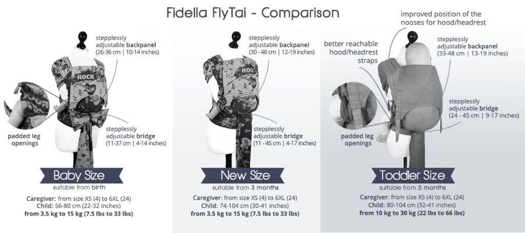 fidella fly tai baby new size toddler comparison chart