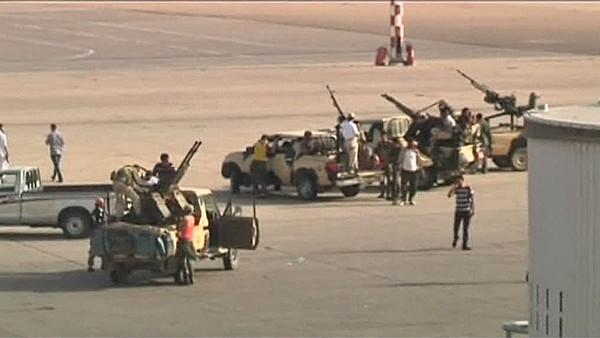 Libyan rebels in the area airports.