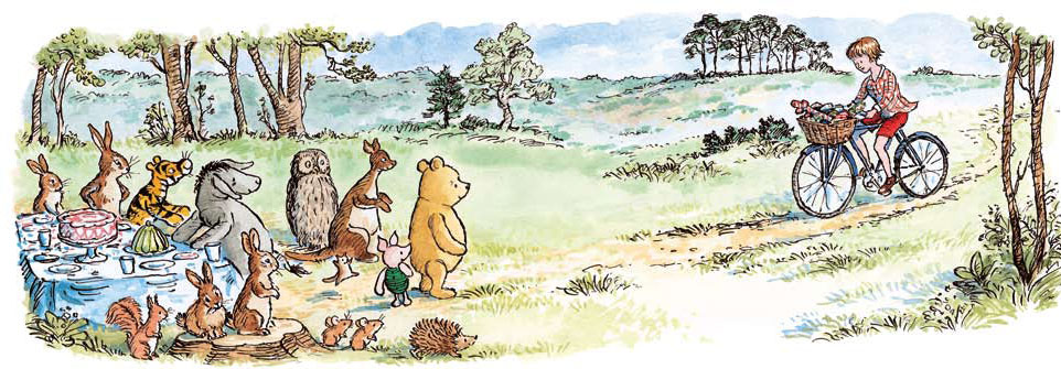 Return to the Hundred Acre Wood, By David Benedictus, illustrated by Mark Burgess. [image via NPR.org]