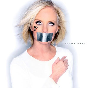 This undated image provided by Adam Bouska/NOH8 Campaign shows Cindy McCain, the wife of Sen. John McCain, R-Ariz., posing for the NOH8 campaign. NOH8 is a gay rights group challenging Proposition 8 passed by California voters in 2008 banning same sex marriage.