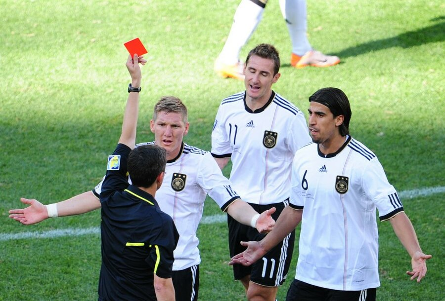 Image result for klose red card serbia