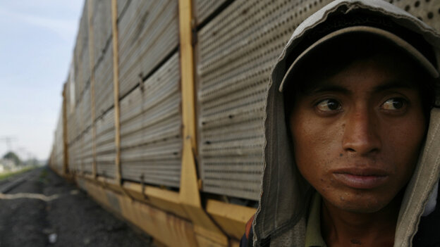 A migrant from Honduras