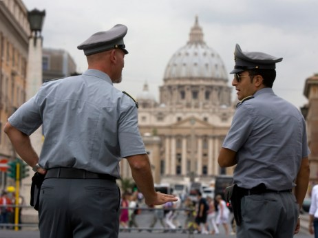 Italian financial police in front of the Vatican.