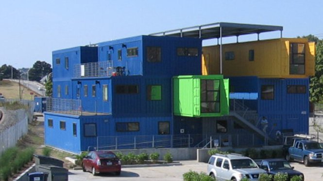 An Office Of Shipping Containers
