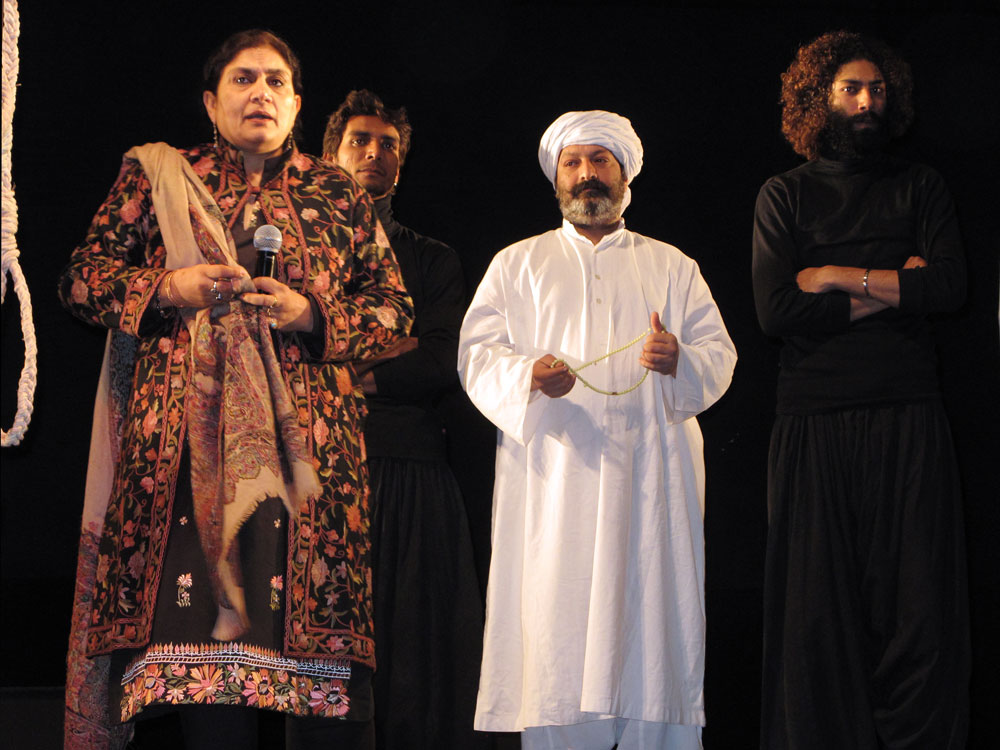 "The Ajoka Theater performs a play about blasphemy titled ""Watch the Play and Move On."" In the anti-secular atmosphere following the assassination of governor Salman Taseer, the staging of the play is a rare example of secular society standing up against the intimidation of religious extremists."