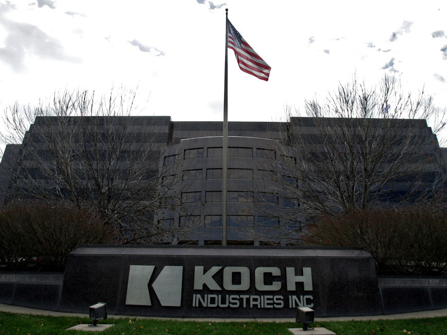 The Koch Industries Inc. headquarters in Wichita, Kan.