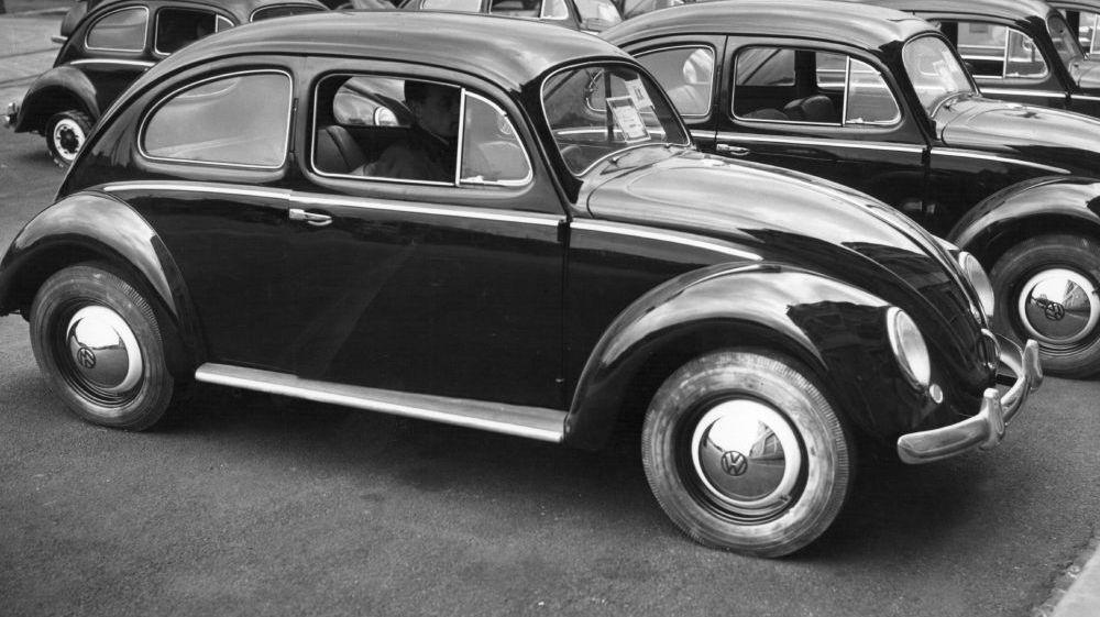 Volkswagen Beetle Flower Vase
