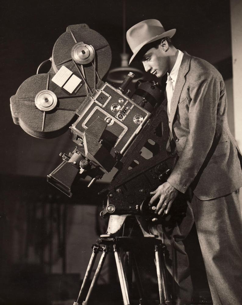 Jack Cardiff with a Technicolor camera.