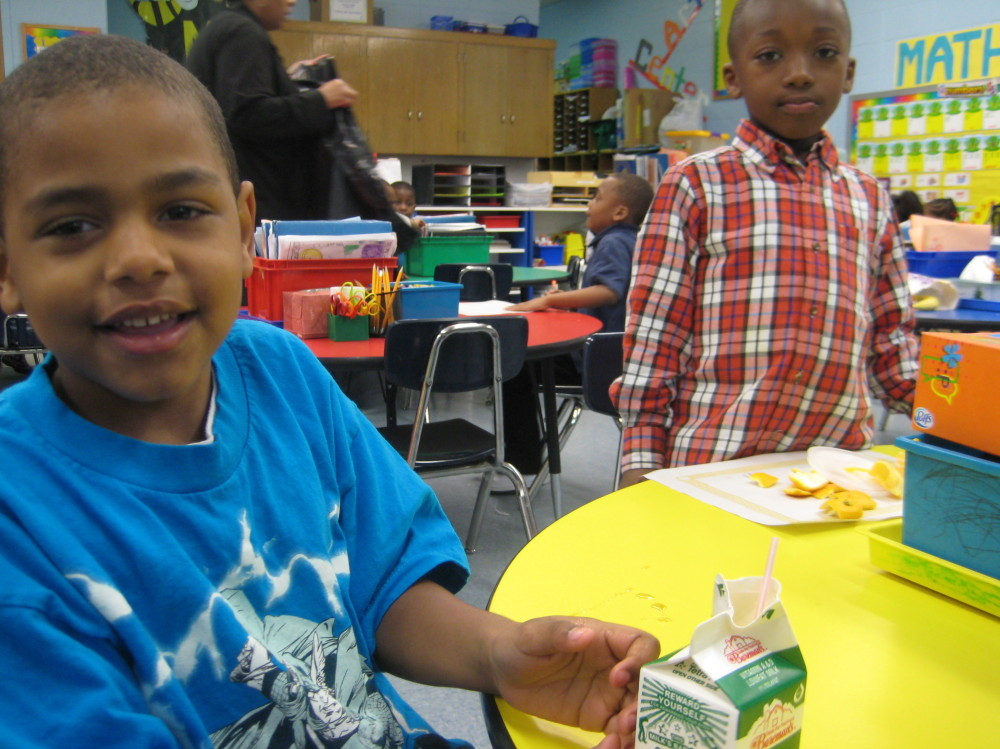 At Shoesmith Elementary on Chicago's South Side, school officials say fewer students are tardy since breakfast service started. The school is 90 percent  low-income.