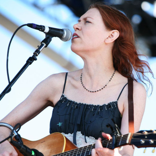 Gillian Welch performs at the 2011 Newport Folk Festival.