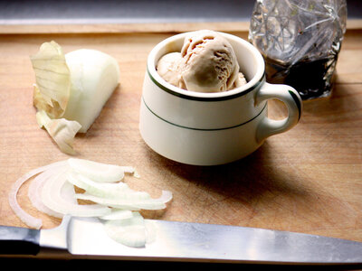 Caramelized Onion And Balsamic Ice Cream