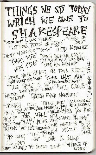 moleskine Shakespeare
