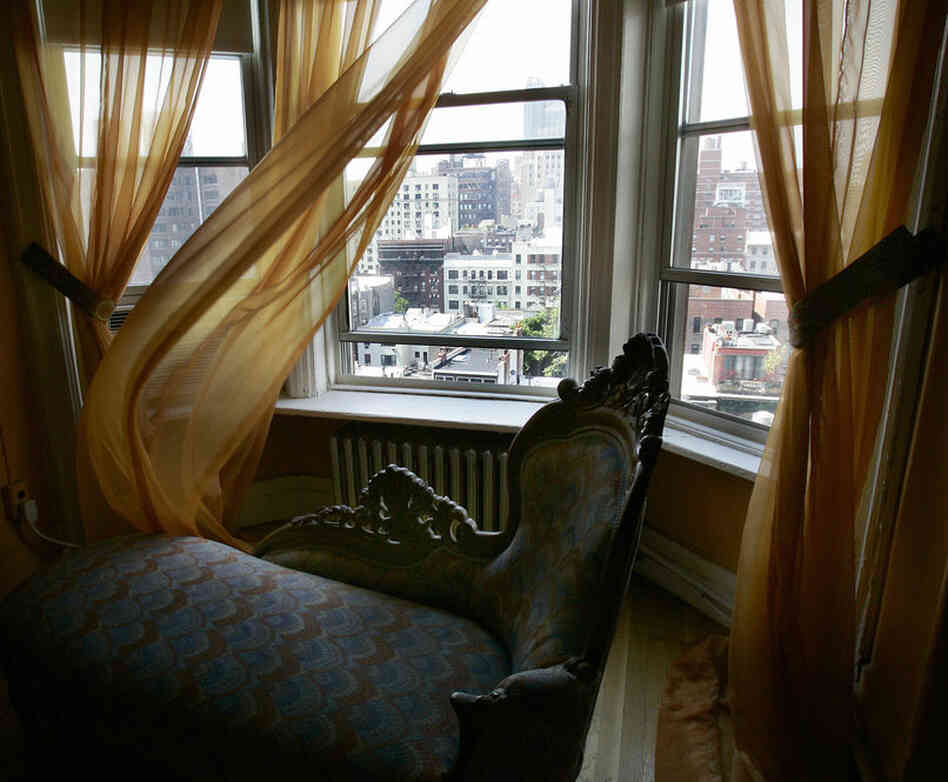 The view from Madonna's former room at the Chelsea Hotel.