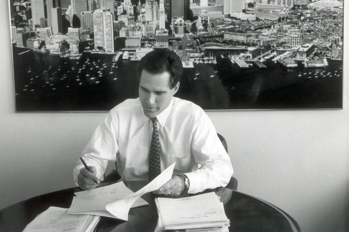 Before entering politics in the 1990s, Romney co-founded Bain Capital, one of the nation's largest and most profitable private-equity funds.