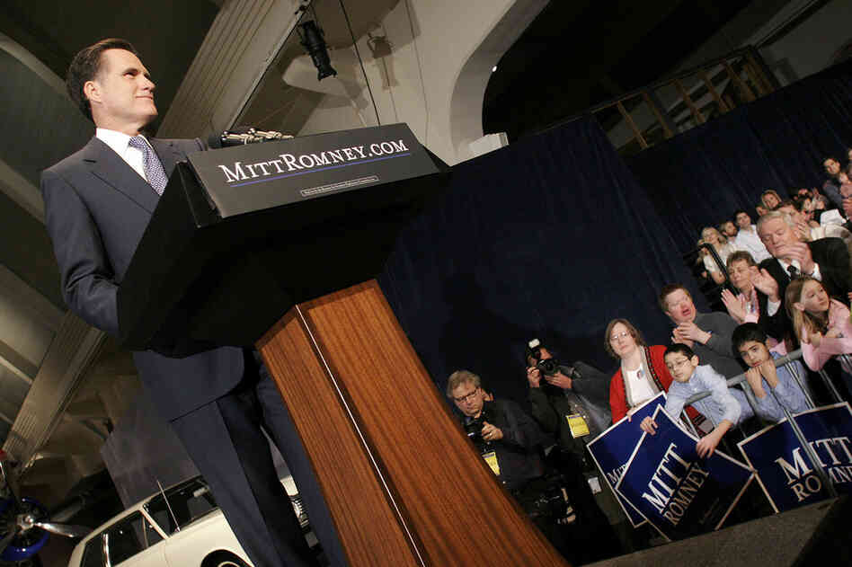 Romney officially announces he is entering the race for the Republican presidential nomination in February 2007.