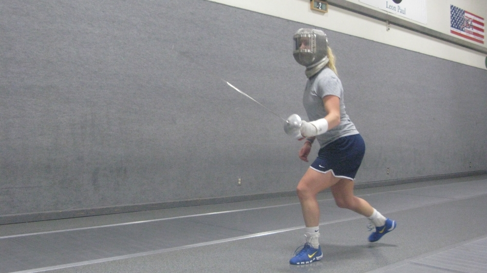 Mariel Zagunis won gold medals in women's sabre fencing at the 2004 and 2008 Summer Olympics.She's training to compete at the upcoming summer games in London.