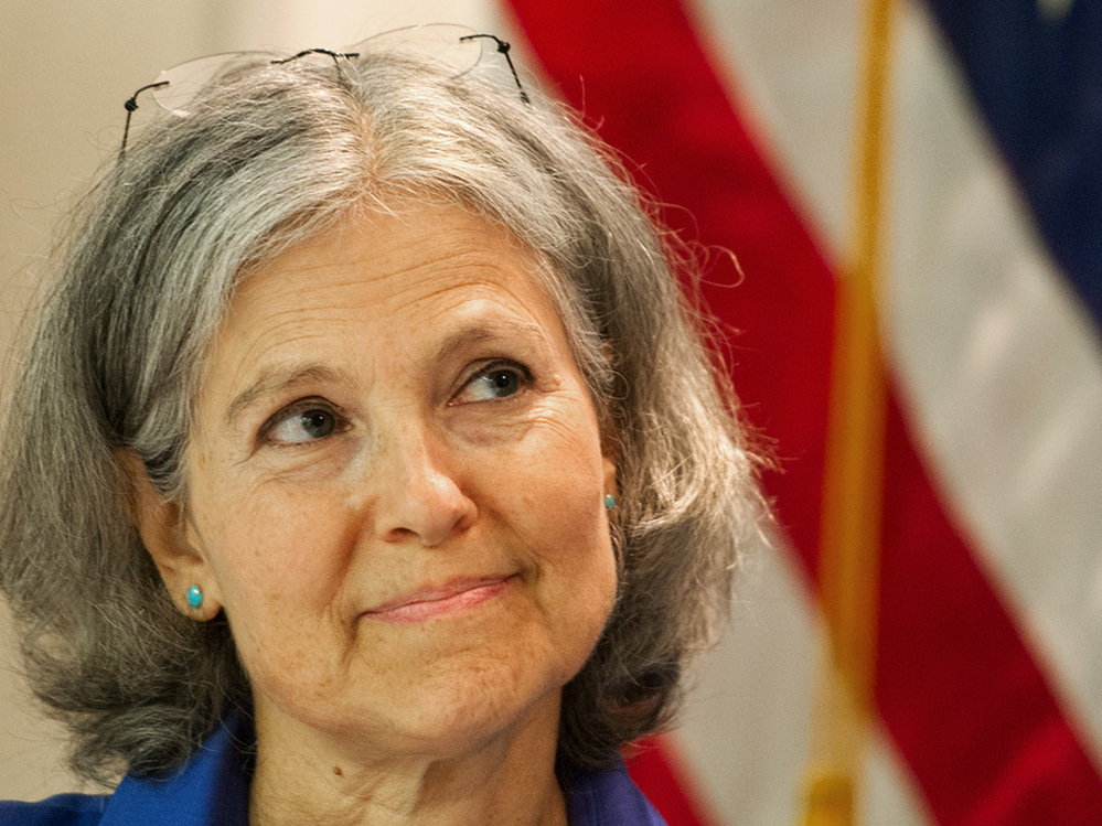 Green Party presidential candidate Dr. Jill Stein delivers remarks during a press conference on July 11 in Washington, D.C.