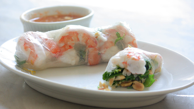 shrimp rice paper peanuts