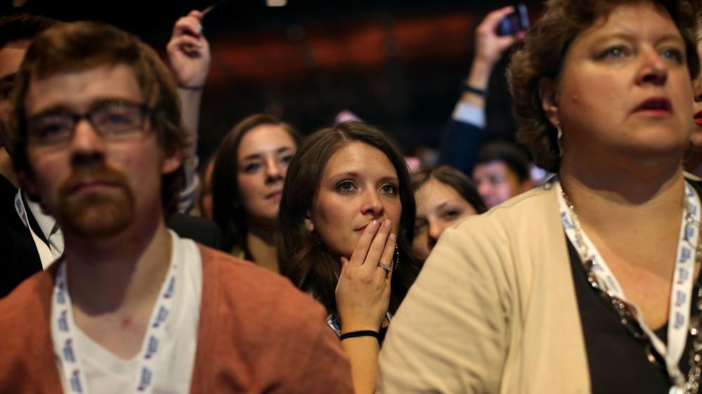 Faces of Romney religious fanatics on election night
