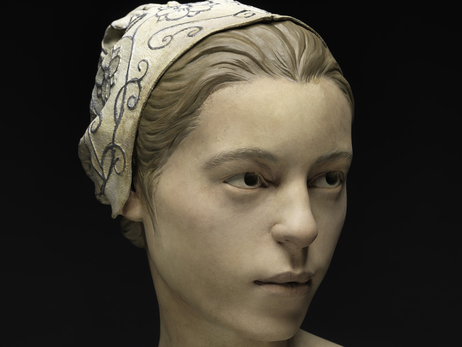"This forensic facial reconstruction shows what the 14-year-old, nicknamed ""Jane,"" may have looked like. Scientists say the remains found at Jamestown are evidence of cannibalism over the winter of 1609-1610."