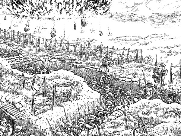 A Panorama Of Devastation: Drawing Of WWI Battle Spans 24 ...