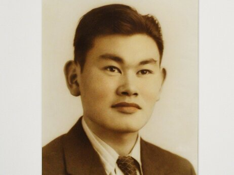 Portrait of Fred Korematsu is seen during its presentation to the National Portrait Gallery in Washington, DC.