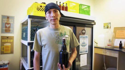 Tyler BigChild, a board member of Vancouver's Drug Users Resource Center, is also part of its Brew Co-Op. The group teaches alcoholics how to make beer and wine, in the hopes that they'll stop risky behavior such as drinking rubbing alcohol.