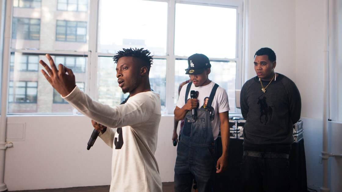 Isaiah Rashad, Chance the Rapper and Kevin Gates in a cypher.