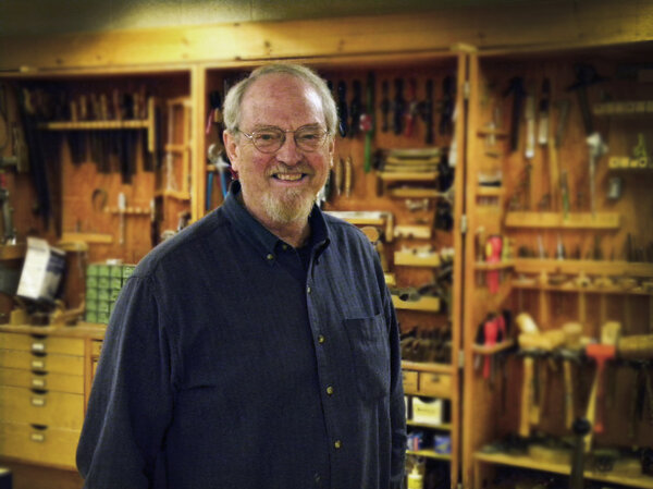 Woodshop teacher Dudley P. Whitney in his classroom.