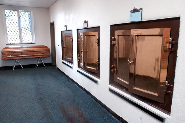 "Mortician Caitlin Doughty says she romanticized working in a crematory, like this one in Watertown, Mass. But the reality is that modern crematories are ""really industrial environments and the body goes into large industrial machines."" And, she says, ""oftentimes I was the only one there."""