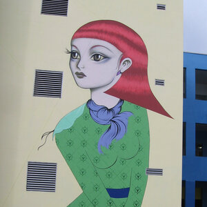 Santiago Rubino is one of the local Miami artists whose work now adorns a wall at the middle school.