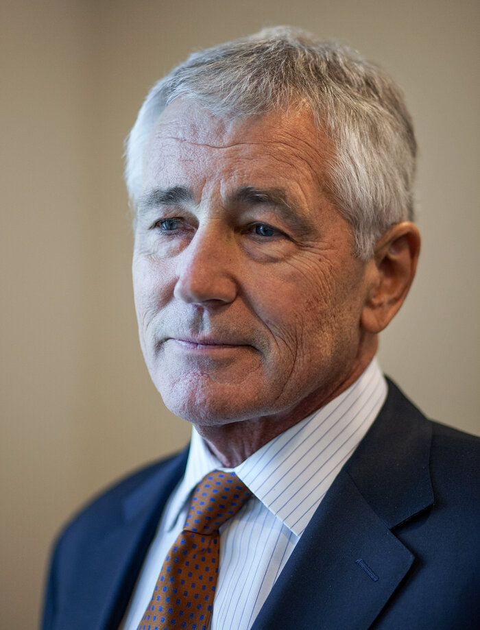 Secretary of Defense Chuck Hagel.