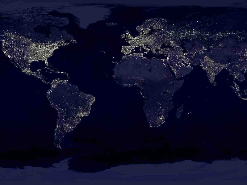 Earth's city lights.
