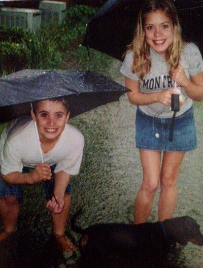 Brent and his sister Tiffany about a year before she died of cystic fibrosis.