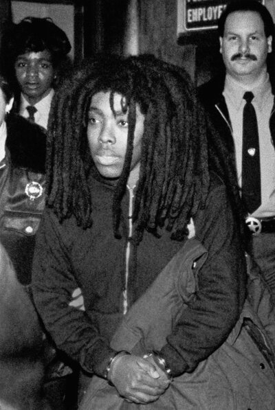 MOVE member Ramona Africa is led out of Philadelphia City Hall on Feb. 9, 1986, after a jury found her guilty of two charges and acquitted her of 10 others in a case stemming from the fatal confrontation in May 1985 between police and the radical group. The jury found Africa guilty of riot and conspiracy.