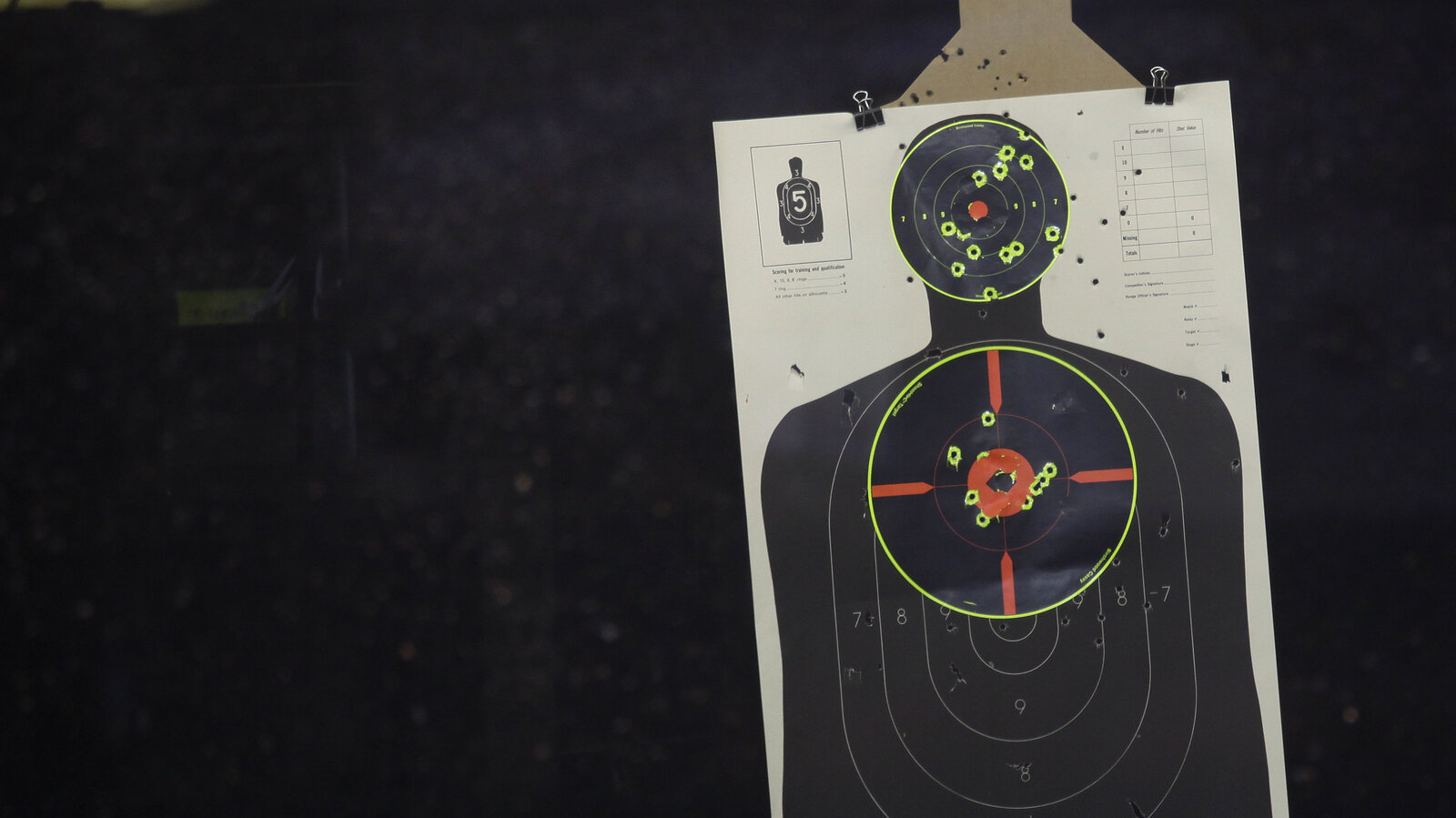 "Shown a realistic human target — not just a silhouette like this one — shooters were more likely to pull the trigger if the target was black, according to an analysis of 42 studies. ""Even if you think that you're not prejudiced,"" says researcher Yara Mekawi, ""that doesn't necessarily mean that that's true in terms of split-second decisions that you might make in the real world."""