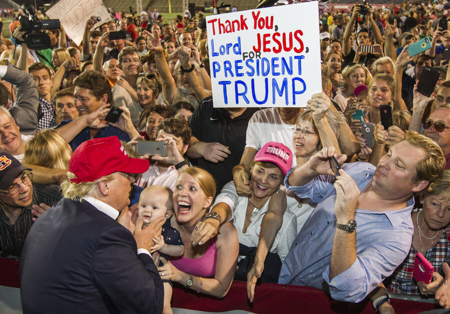 Image result for Donald Trump's christian supporters