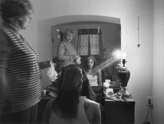Mom Relaxing My Hair, 2005.