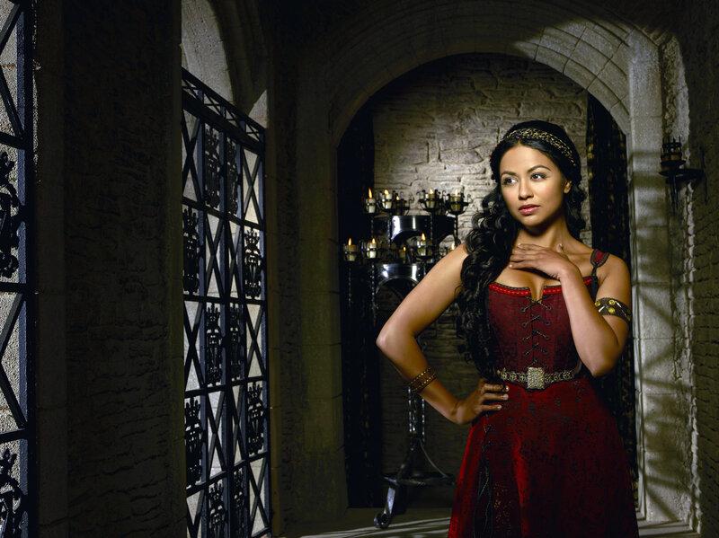 Karen David stars as Isabella Maria Lucia Elizabetta of Valencia on the musical farce Galavant.